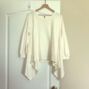 Anthropologie lili's closet hi-lo qtr sleeve top